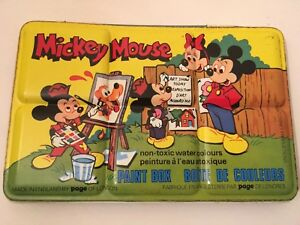 UNUSED-Vintage-Disney-Paint-Box-Tin-By-Page-Of-London-Circa-70s-Made-In-England