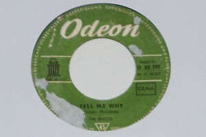 """THE BEATLES -Tell Me Why / If I Fell- 7"""" 45 Odeon Records - Potsdam, Deutschland - THE BEATLES -Tell Me Why / If I Fell- 7"""" 45 Odeon Records - Potsdam, Deutschland"""