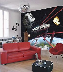 Wall Mural Photo Wallpaper Star Wars Millenium Falcon Kids Room