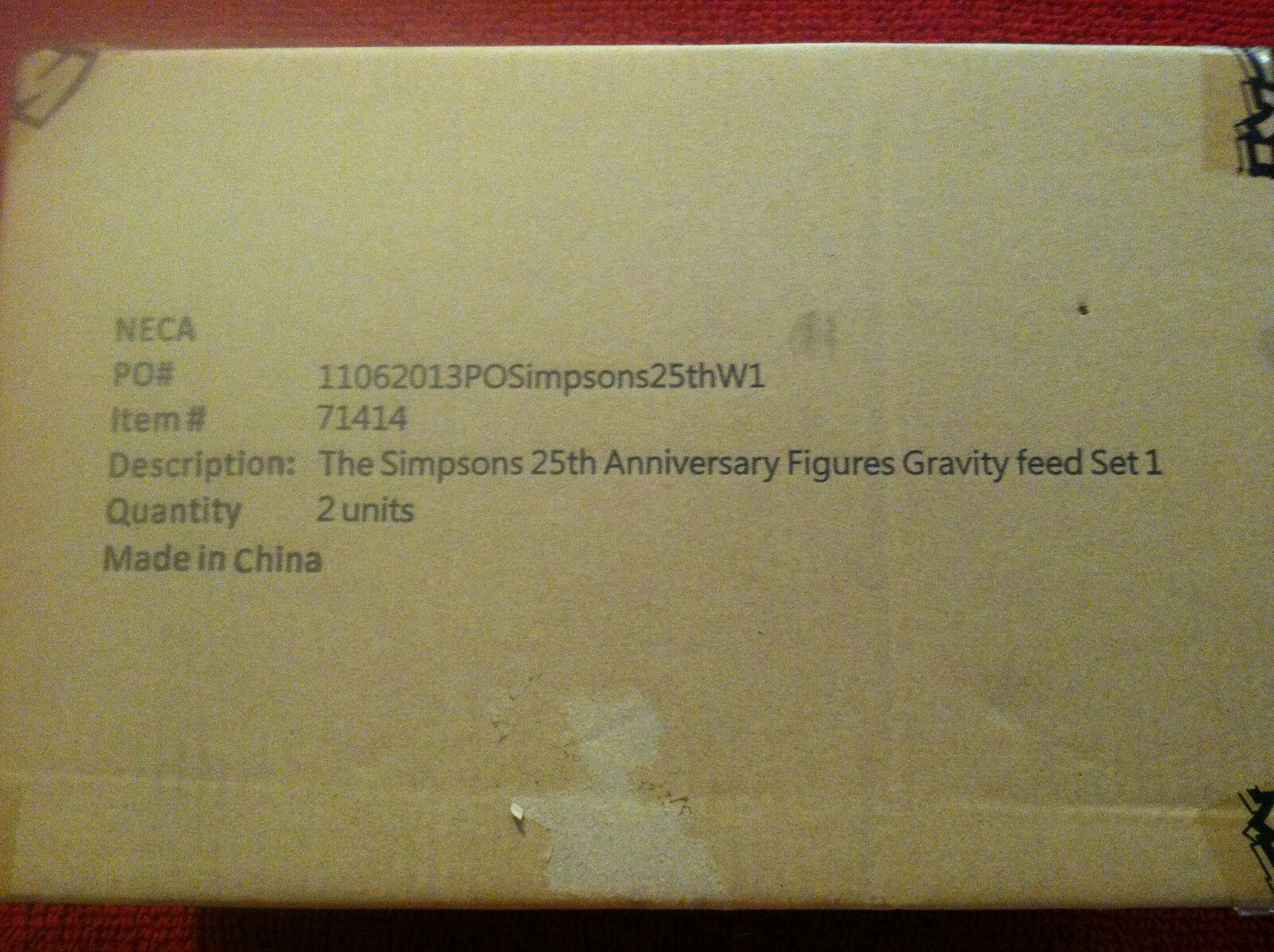HeroClix  The Simpsons 25th Anniversary Figures Gravity Feed Set - 1 Case SEALED