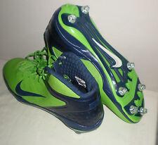 Mens NIKE Alpha Talon Elite 3/4 Detachable Football Cleats GREEN NAVY BLUE 14.5