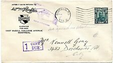 Quality clothing Montreal bulk mail returned to sender 1c due ad cover Canada