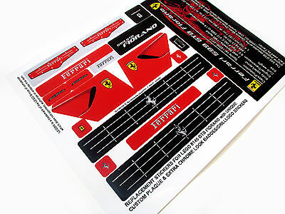 NO CUTTING REPLACEMENT STICKERS for Lego 8156 FERRARI FXX with UNIQUE PLAQUE