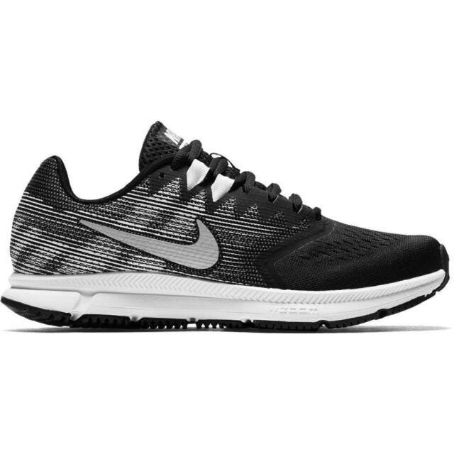 e10d99826b8e WMNS Nike Zoom Span 2 II Black Metallic Silver Women Running Shoes ...