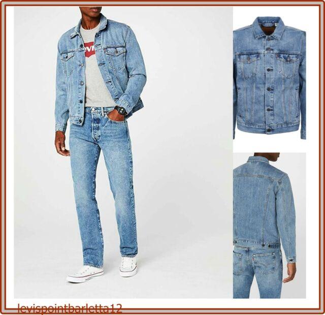 nuovo stile 2e0b2 63ffd giubbotto di jeans levis da uomo giacca levi's giubbino denim jacket in S M  L XL