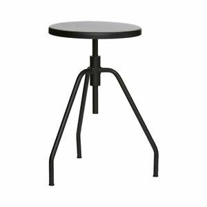 Industrial Steel Scarpa Black Stool Danish Design by House Doctor