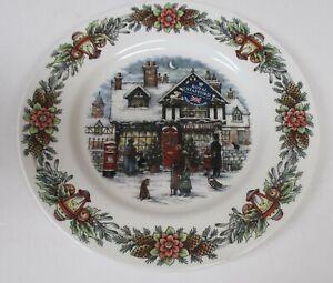 Royal-Stafford-Christmas-Toy-Shop-4-Salad-Dessert-Plates-Made-in-England-NWT