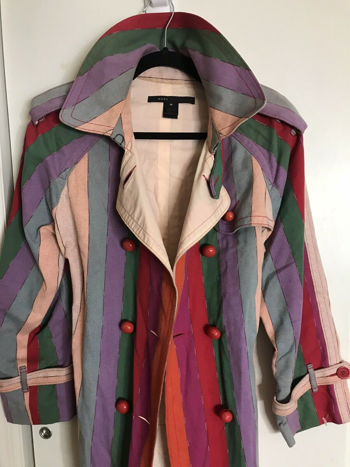 MARC JACOBS Multi Color Trench Coat Medium msrp $… - image 5