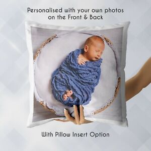 Personalised-Photo-Cushion-Custom-Gift-Pillowcase-Pillow-Case-Cover-amp-Insert