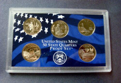 "2003-S FIVE COIN PROOF STATE QUARTER SET IN SEALED HOLDER *NO BOX OR C.O.A./"" A#3"