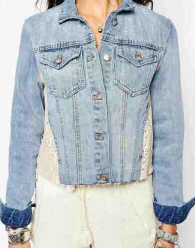 People Pannello Pizzo Le Jeans Giacca Free Etichetta Nuova Misure Con Di UxtqIY