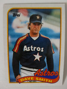 Details About 1989 Topps Dave Smith Houston Astros Wrong Back Error Baseball Card
