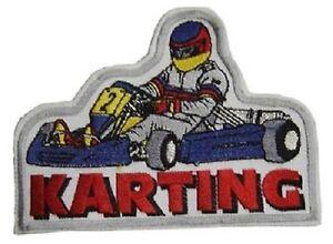 5 x Aufnaeher 11,5 x 7,8 cm Restposten Sonderpreis B2B Kart Karting 441