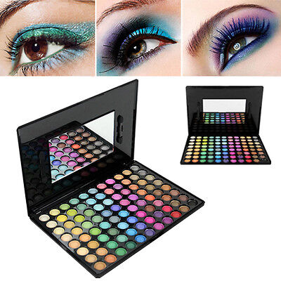 88 Colour Eye Shadow Palette Makeup Kit Set Make Up Box with Mirror Coloured