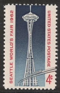 Scott-1196-Seattle-World-039-s-Feria-Espacio-Needle-MNH-4c-1962-sin-Usar-Mint