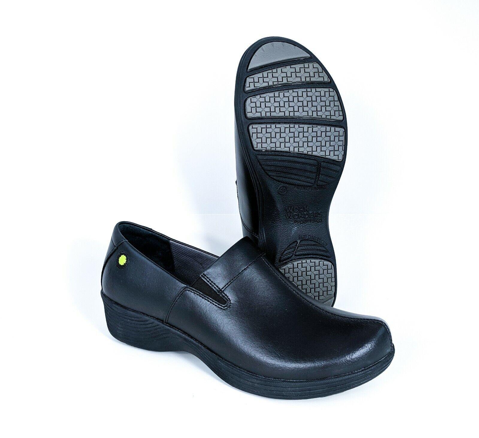 Dansko Work Wonders  Coral Leather nero Slip -On donna Sz 10 EUR 41 SHIP  servizio onesto