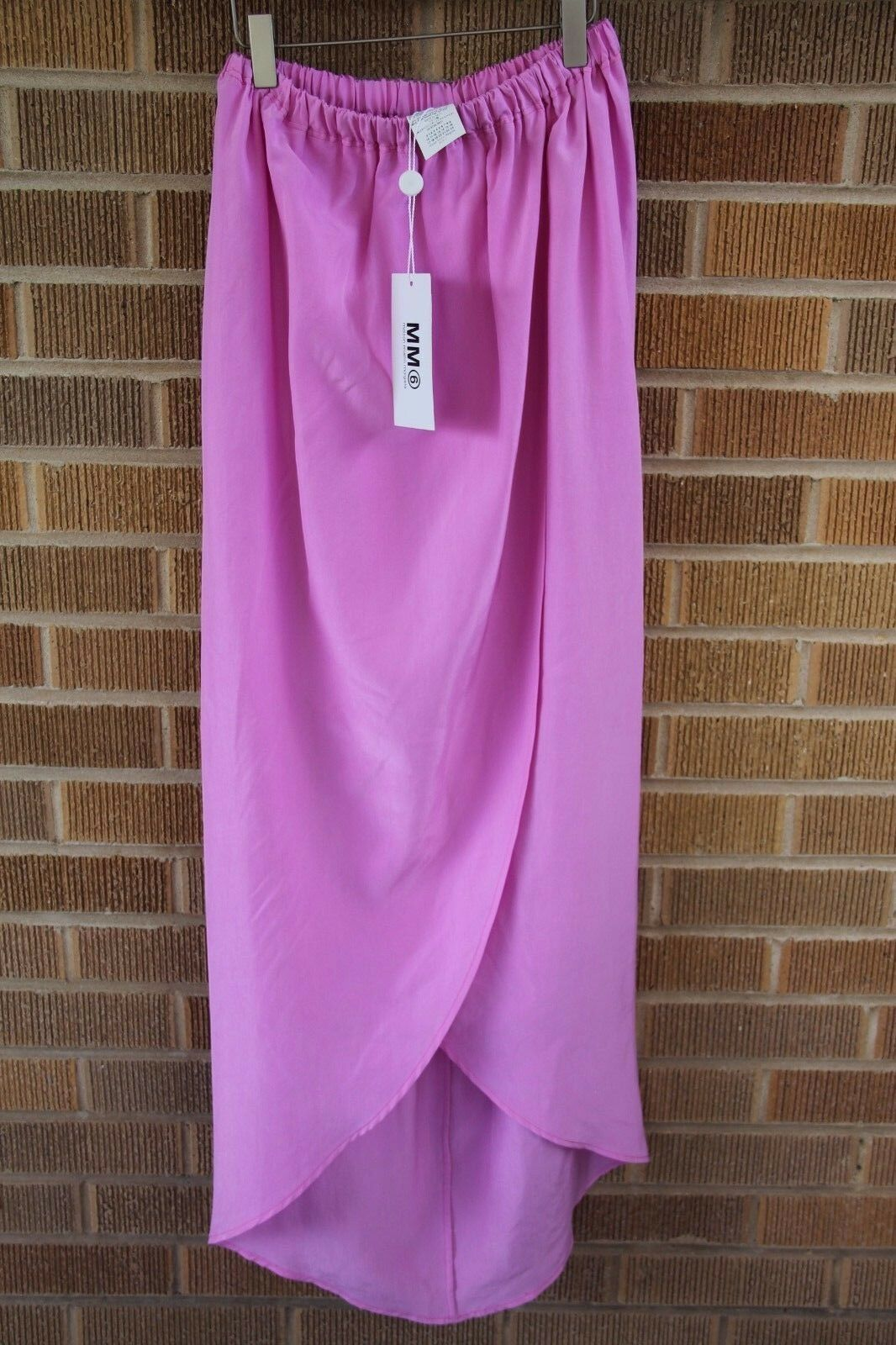 NWTMM6 Maison Martin MargielaNeon Berry Congreenible Silk Skirt36  US XS 530