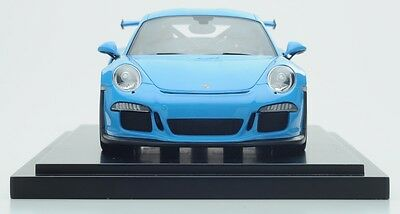 Porsche GT3 RS 991 1:18 Scale Model Car Limited Edition Riviera Blue Diecast