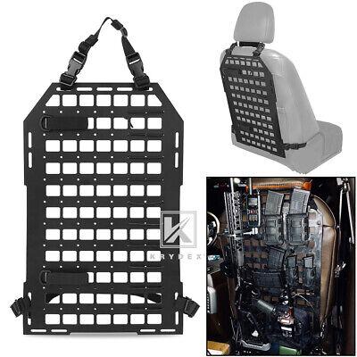 KRYDEX Tactical Vehicle Gun Rack MOLLE Panel Car Seat Back Display Organizer