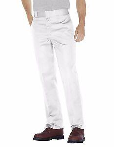Dickies Mens Original Fit 874 Work Pant White Classic Work Uniform All Sizes