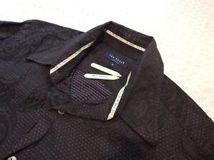 Ted-Baker-Camisa-Para-Hombres-Talla-3-42-034-pecho-RRP-110-Jacquard-Floral