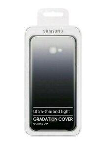 Samsung Galaxy J4+ PLUS PROTEZIONE COVER CUSTODIA ORIGINALE-NERO graduata
