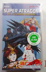 Yamato-Video-SUPER-ATRAGON-2-La-Memoria-Dell-039-oceano-VHS-NUOVO-SIGILATO-celophan
