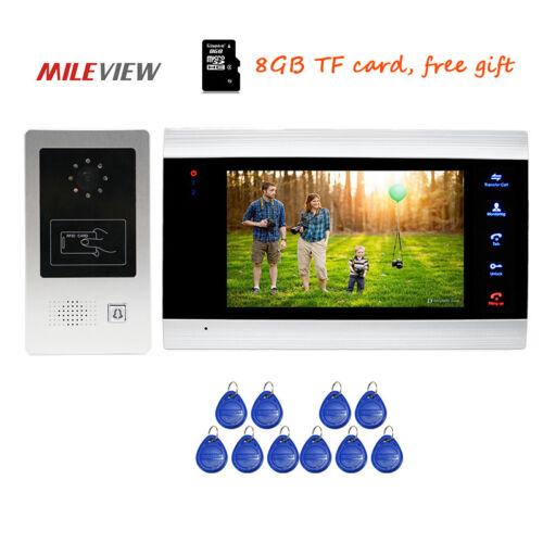 RFID Camera 720P AHD Video Door Phone Intercom Record System Motion Detection
