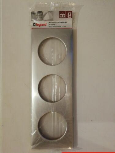 LEGRAND plaque 3 postes entraxe 71mm Céliane NEUF sous blister