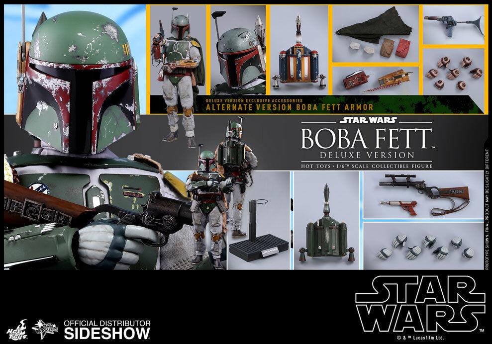 Ahorre 35% - 70% de descuento Estrella Wars Wars Wars Ep. V Boba Fett Deluxe Version Acción Figura Hot Juguetes Sideshow MMS 464  estar en gran demanda