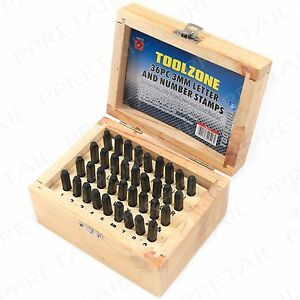 36pc Metal 3mm Letter Number Name Punch Stamps Tools Machinery