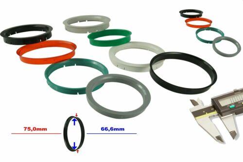 4x anillas de centrado 74,1 x 72,6 mm adecuado para bmw AEZ discretamente Dotz ICW Borbet enzo