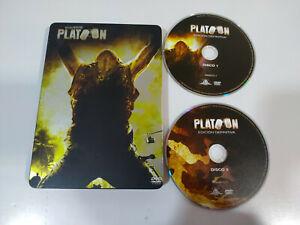 Platoon Oliver Stone Willem Dafoe Sheen - 2 x DVD Steelbook Español English - 3T
