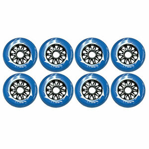 100mm Inline Skate Wheels for fitness & speed ( 8 Draco wheels) by Trurev