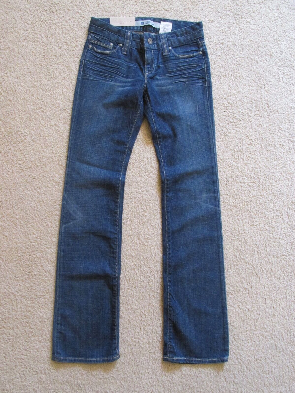 New with Tags Women's Gap Denim bluee Jeans Straight Bootcut Size 0 Long 0L