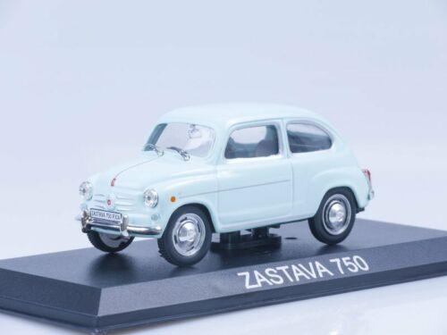 Scale model car 1:43 Zastava 750 light blue 1955