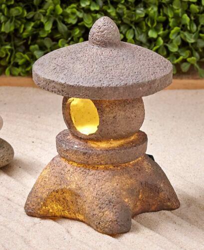 Serenity Solar Lighted ZEN Garden Patio Decor Pagoda Lanterns Buddha Statue