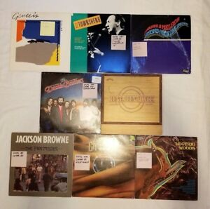 Doobie-Brothers-Jefferson-Airplane-Chilliwack-Jackson-Browne-Lot-of-Records-CR07