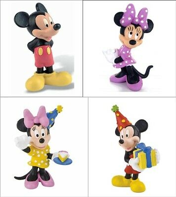 Bullyland Disney Mickey Mouse Clubhouse Figure Figurines Toy Cake Toppers 4-pk
