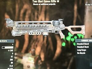Details about Fallout 76 PS4 (ingame Items) - TWOSHOT GAUSS RIFLE