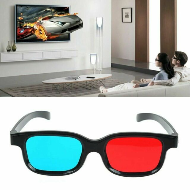 Red Blue 3D Glasses For Dimensional Anaglyph DVD Movie-Game Fashional G0B0