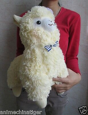 "14"" Amuse Arpakasso Alpacasso Alpaca Plush Doll With Hat Yellow New with tag"