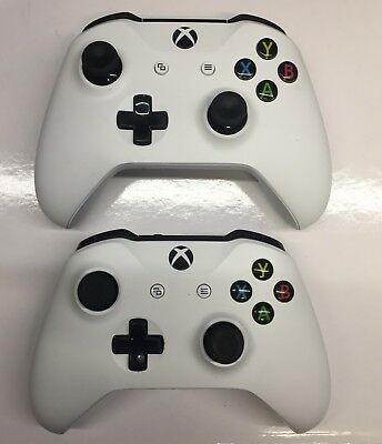 Xbox One Wireless Controller model 1708 - WHITE **2 pack** (EX6-00002)  *USED* 889842084320   eBay