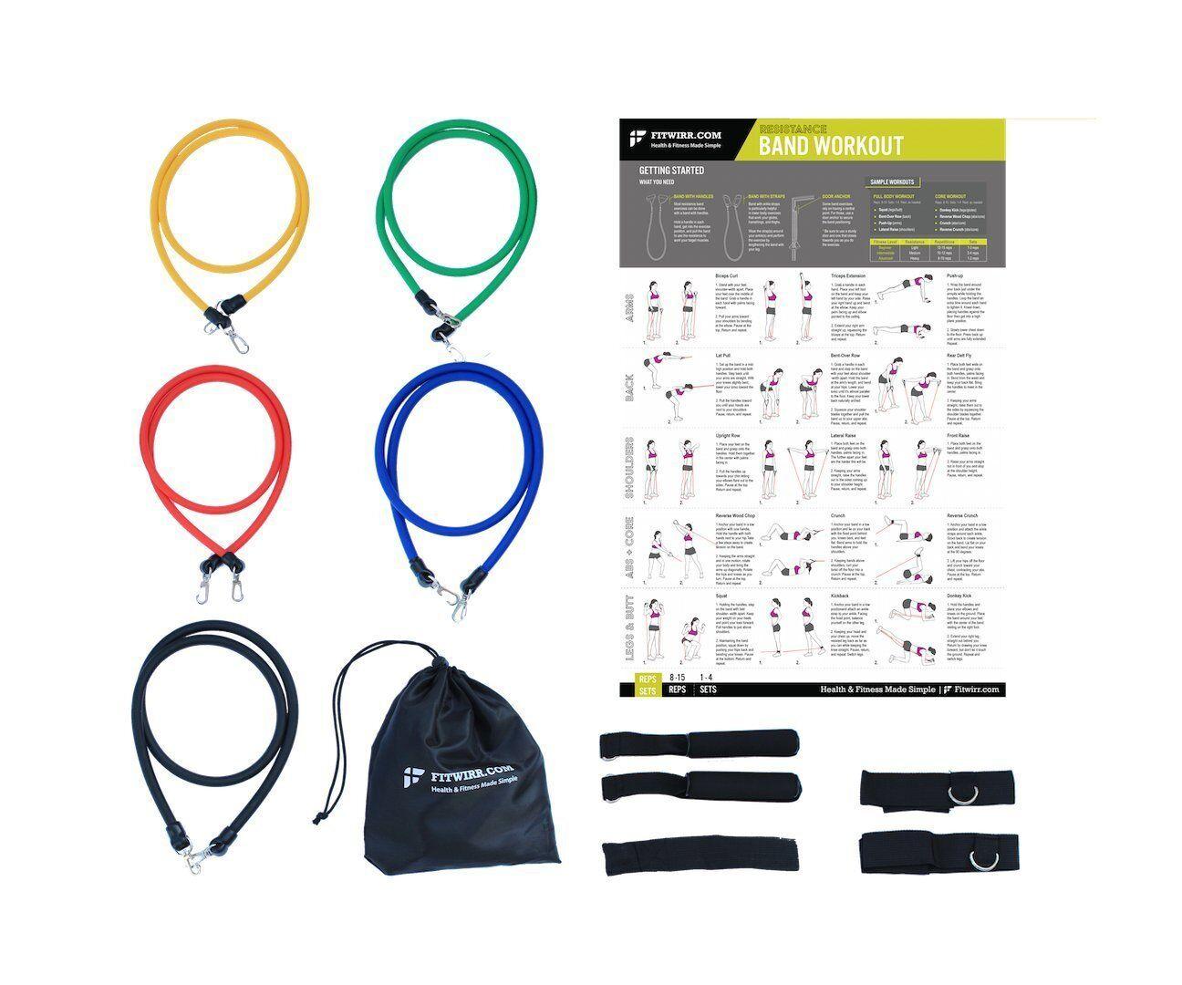 Resistance Be Set Abs latex Fitness Training lavoroout Tubes 12 PCS Bundle