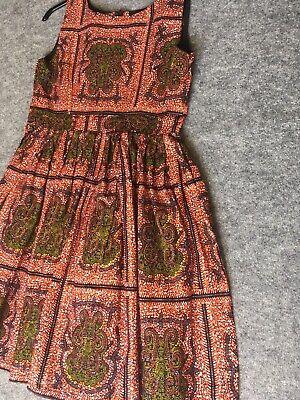 Donna Cotone Stampa Africana Abito, Ankara, Kitenge Casual/estate Wear-mostra Il Titolo Originale Colore Veloce