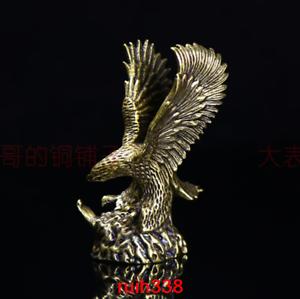 China bronze Seiko carving Flying eagle statue Desktop decoration