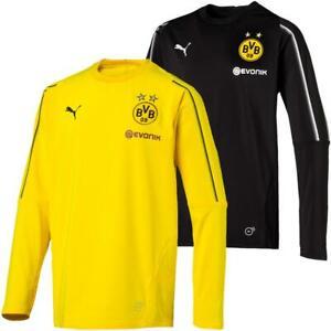 Puma-BVB-Borussia-Dortmund-Kinder-Training-Sweat-Top-Langarm-Trikot