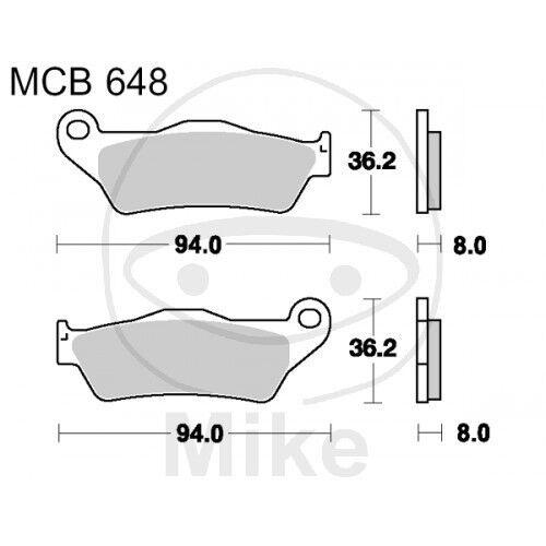 49 PS 36 kw Bremsklötze Standard offr KTM LC4-E 640 Supermoto  BJ 1999-2002