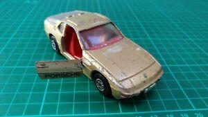 Vintage-Corgi-N-321-Porsche-924-Coche-Modelo-Diecast-Oro-Metalico-Juguete-Coleccionable