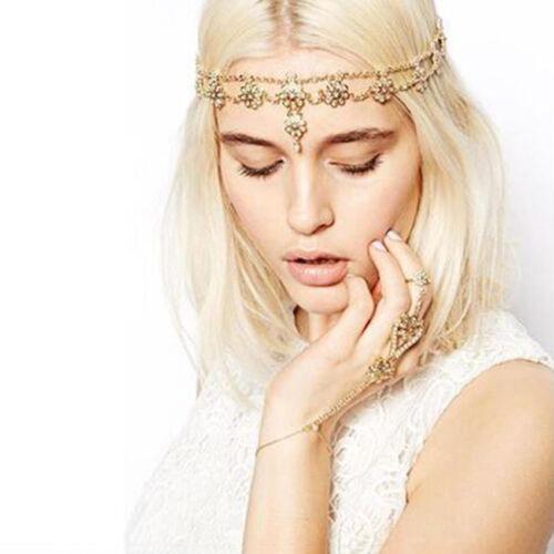 Women Girl Retro BOHO Wedding Bride Party Elastic Hair Elastic HeadBand Headband